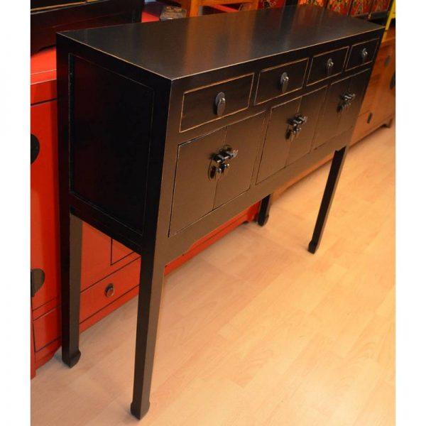 console-chinoise-noire Longeurg 110 cm