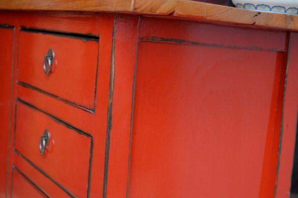bahut asiatique rouge