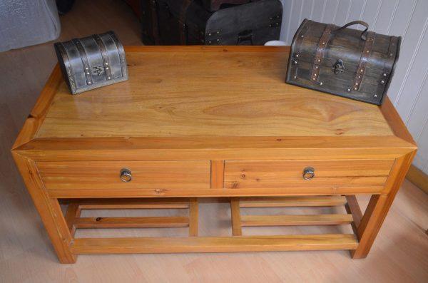 Table salon bois clair