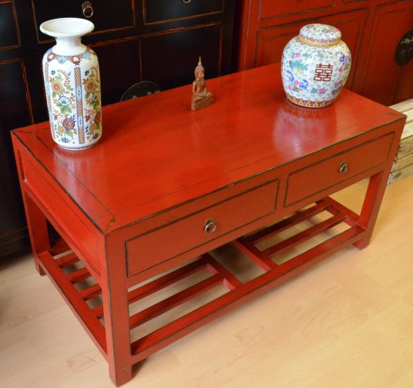 table salon rouge Chine