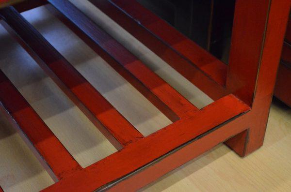 Table basse asiatique rouge