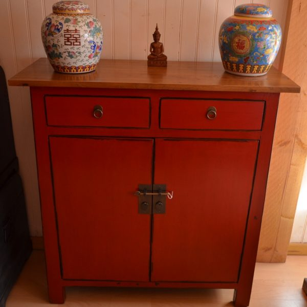bahut chinois rouge 120 cm
