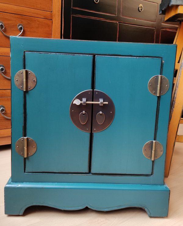 Meuble chinois bleu 55 cm