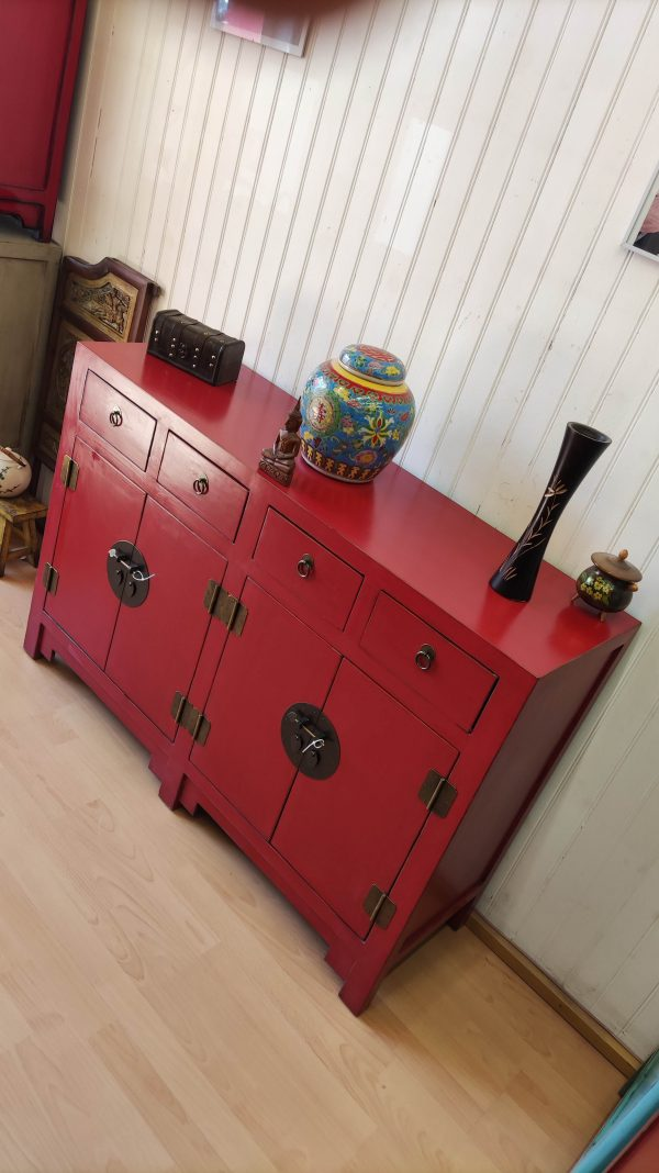Buffet rouge chinois 145cm