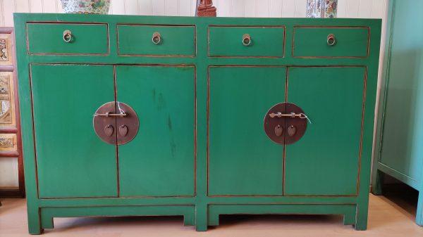 bahut chinois vert en face